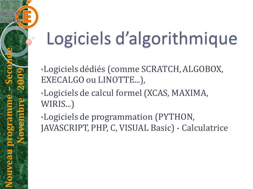 Logiciels d'algorithmique