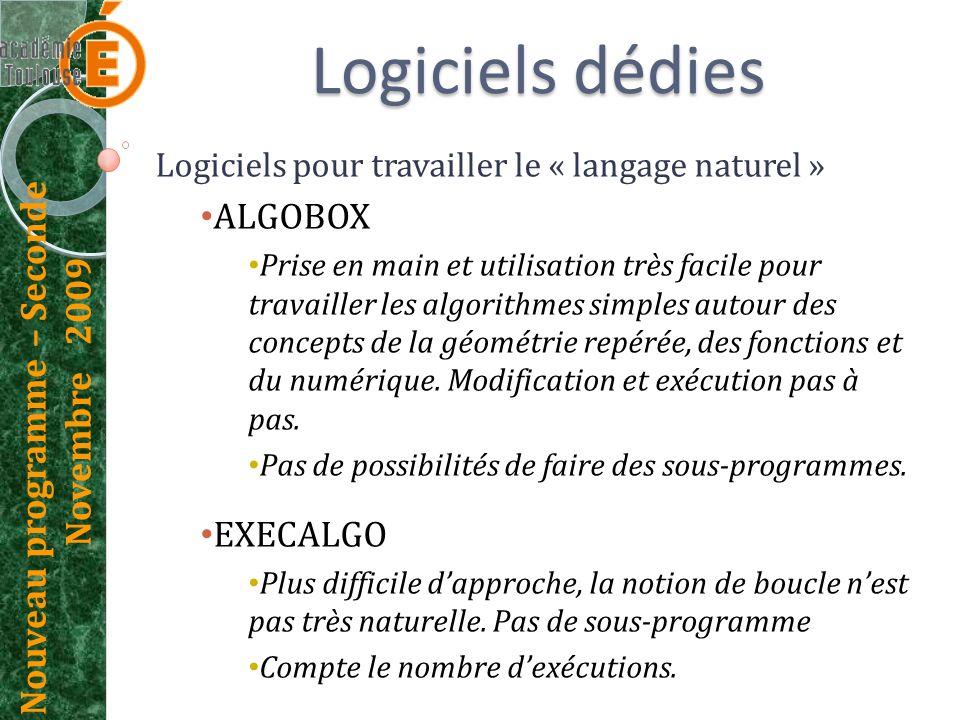 Logiciels dédies ALGOBOX EXECALGO
