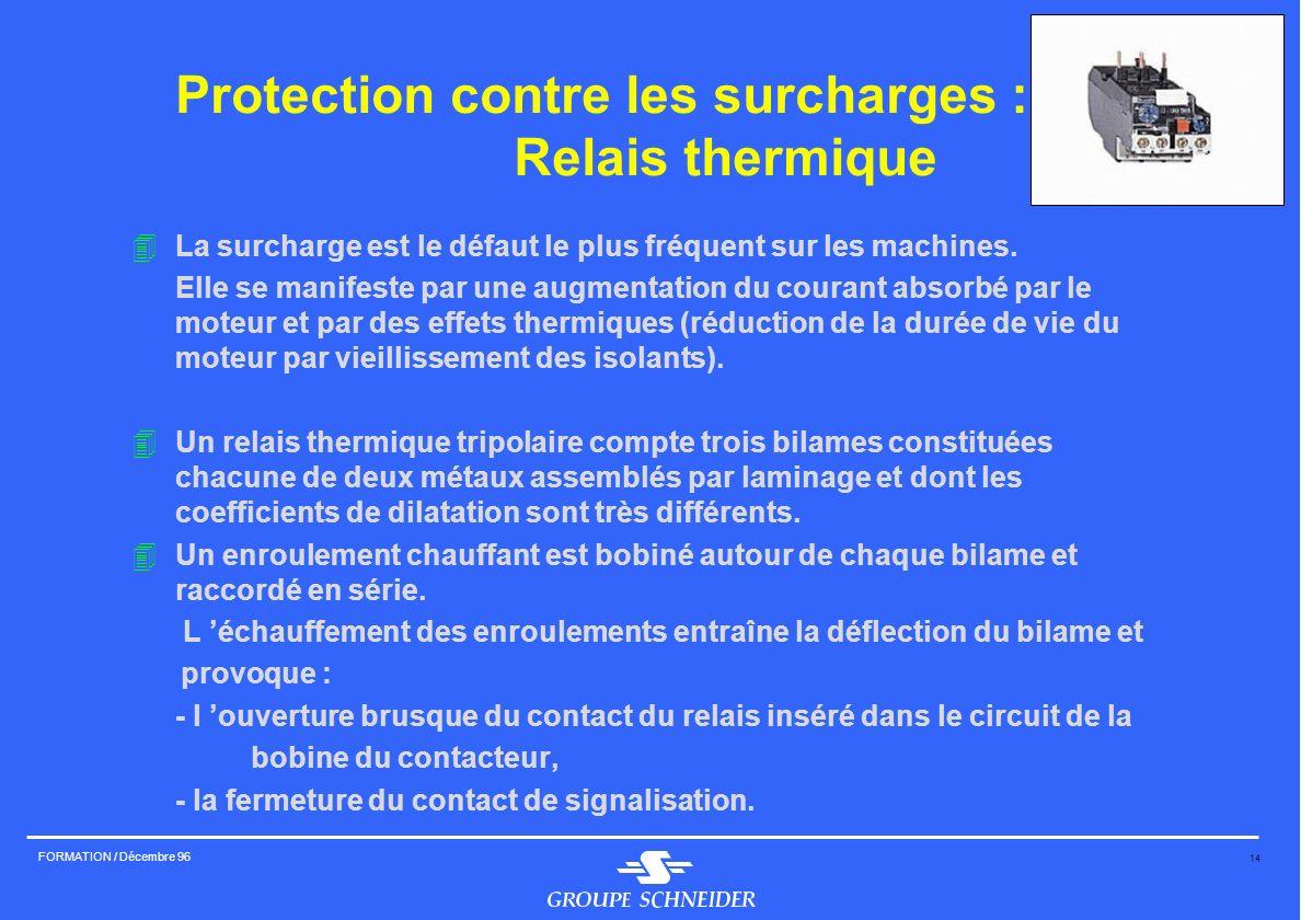 Protection contre les surcharges : Relais thermique