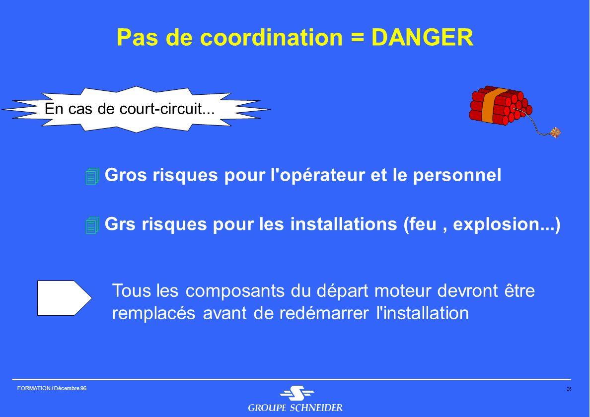 Pas de coordination = DANGER