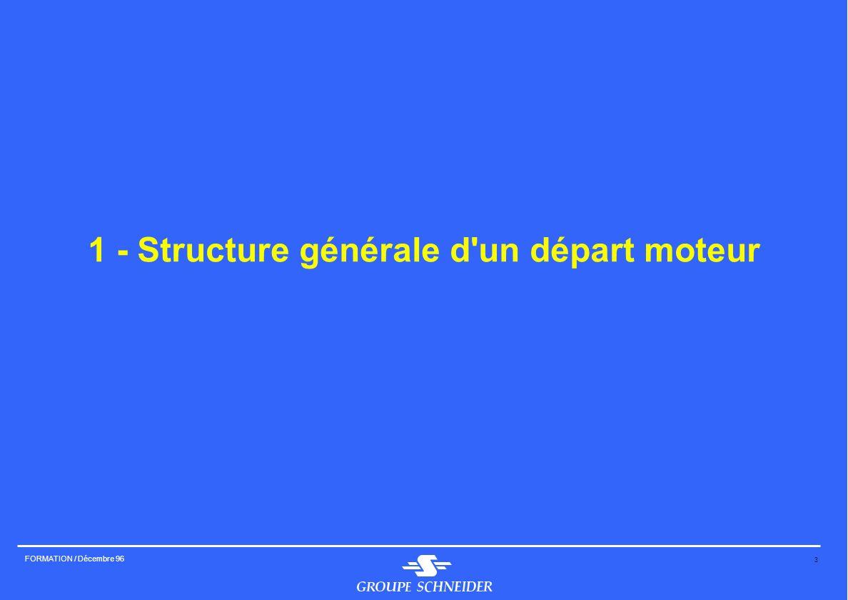 1 - Structure générale d un départ moteur