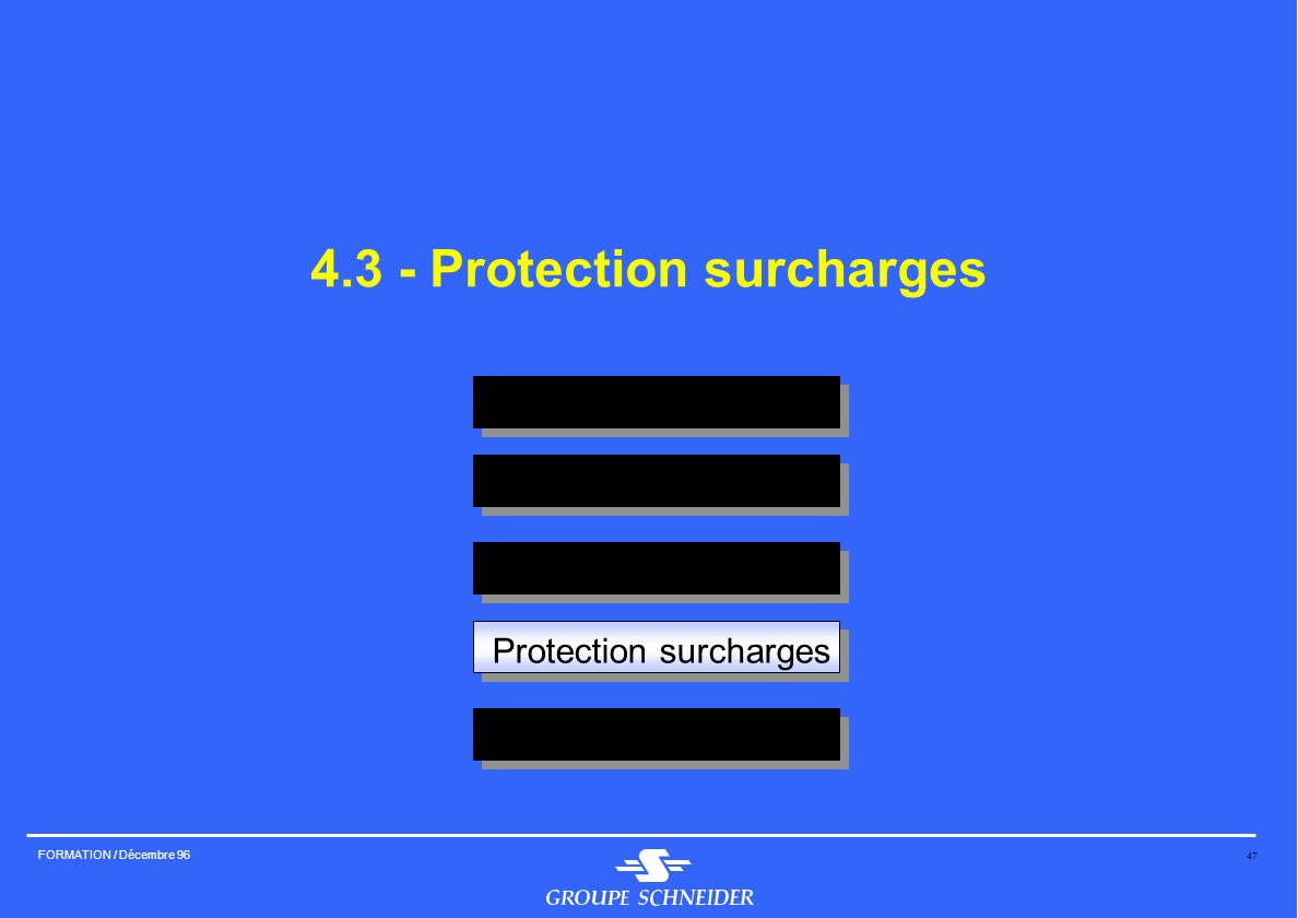 4.3 - Protection surcharges