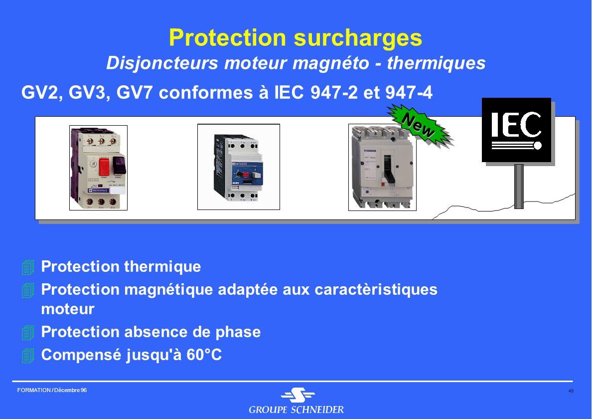 Protection surcharges Disjoncteurs moteur magnéto - thermiques
