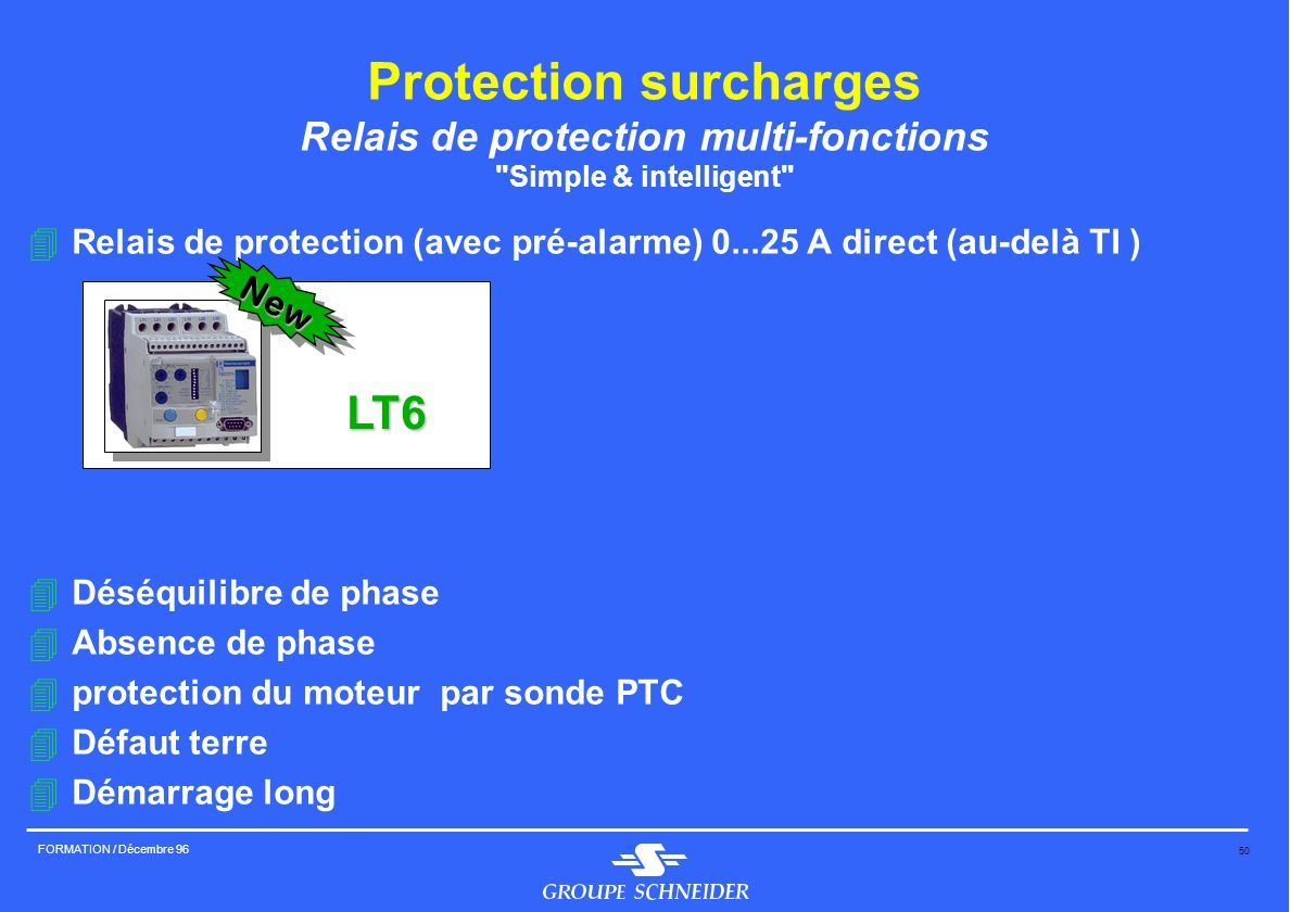 Protection surcharges Relais de protection multi-fonctions Simple & intelligent