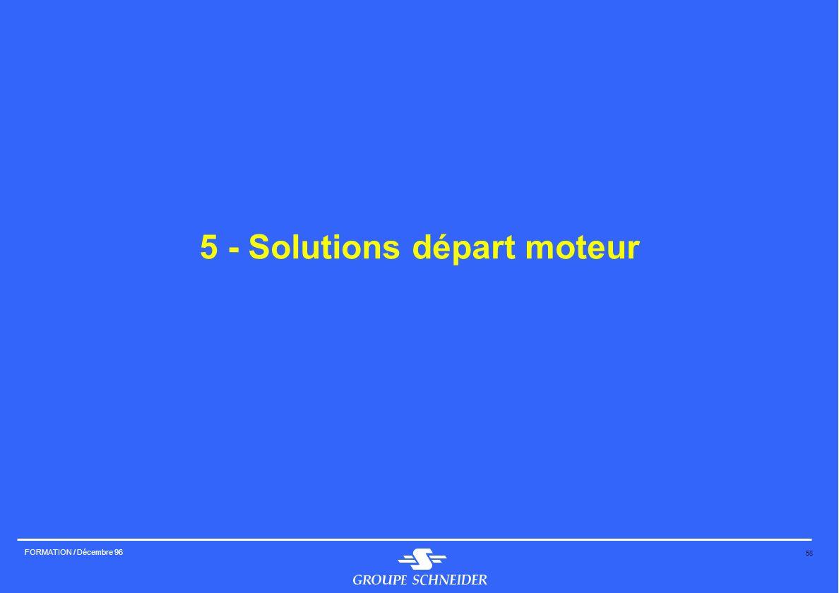 5 - Solutions départ moteur