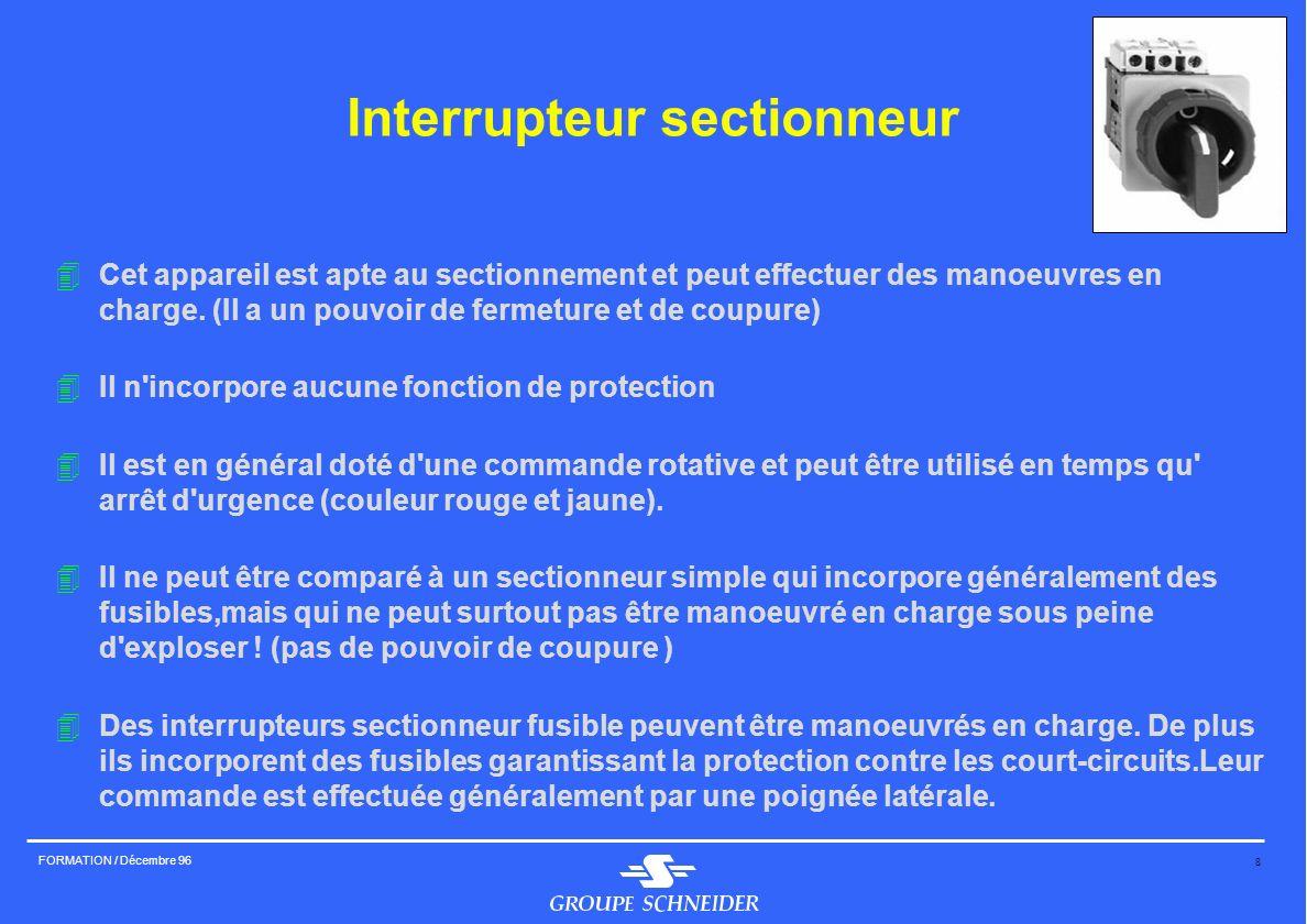 Interrupteur sectionneur