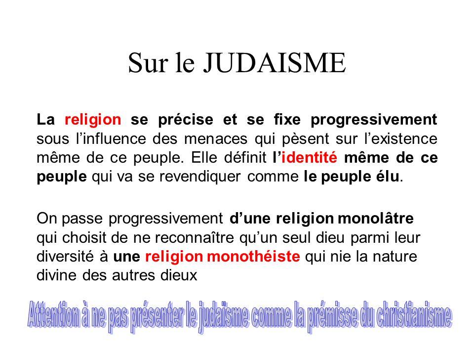 Sur le JUDAISME