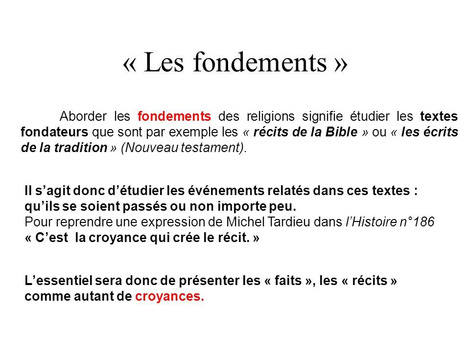 « Les fondements »
