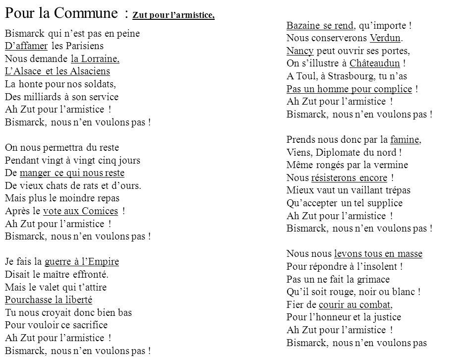 Pour la Commune : Zut pour l'armistice,
