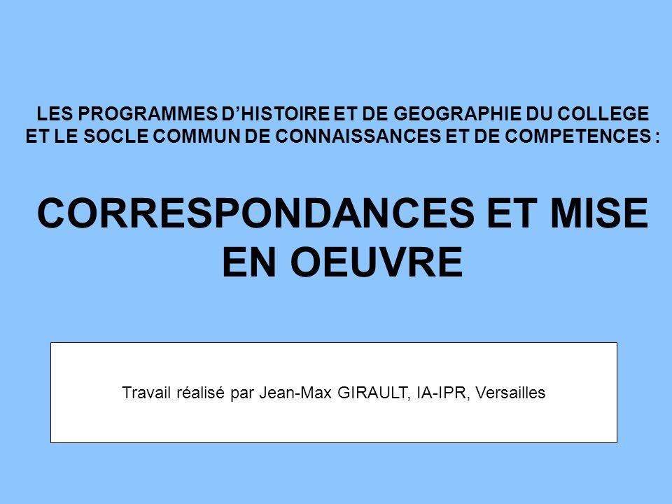Travail réalisé par Jean-Max GIRAULT, IA-IPR, Versailles