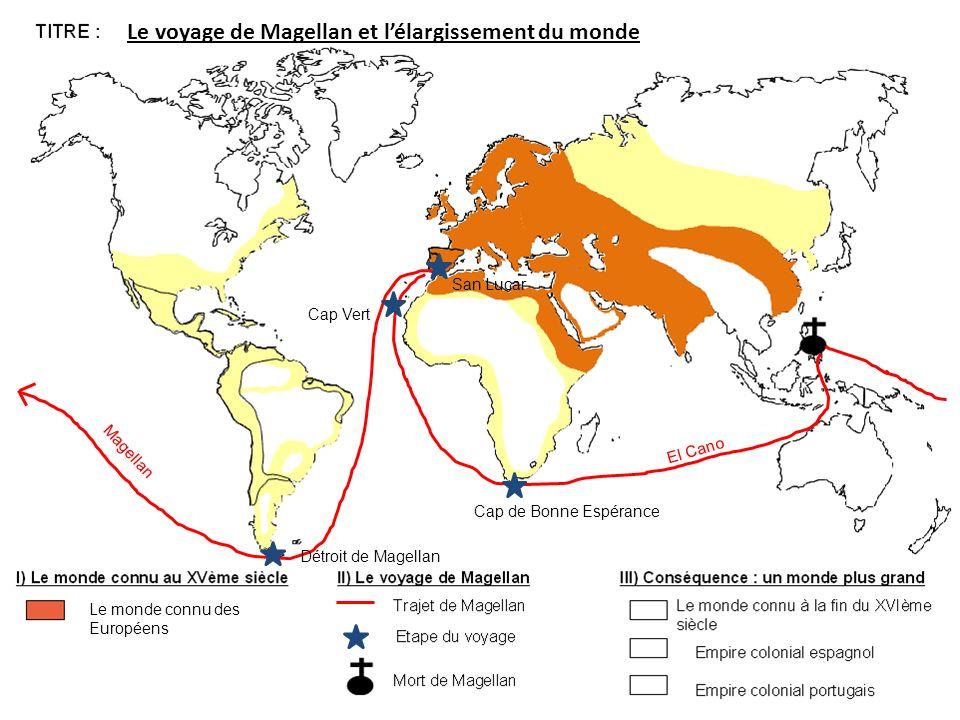 Le voyage de Magellan et l'élargissement du monde