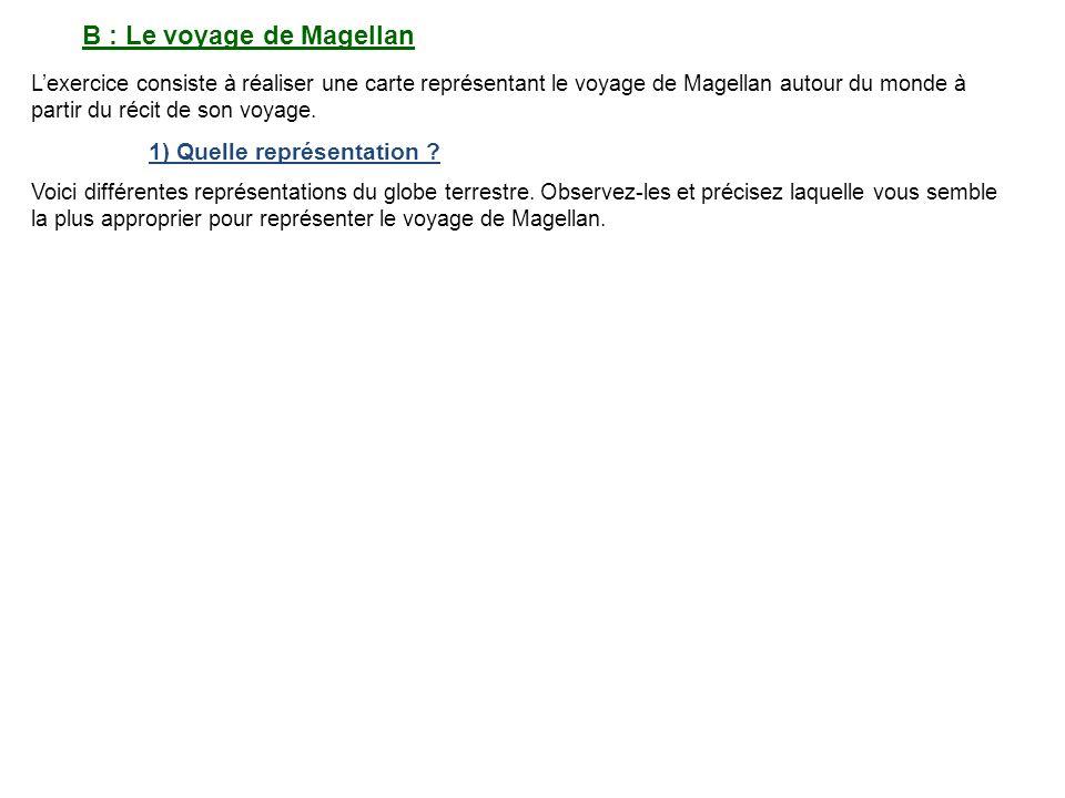 B : Le voyage de Magellan