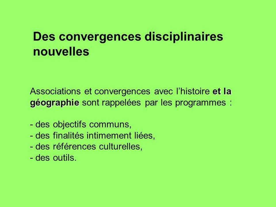 Des convergences disciplinaires nouvelles
