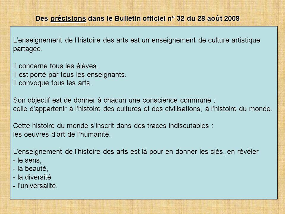 Des précisions dans le Bulletin officiel n° 32 du 28 août 2008