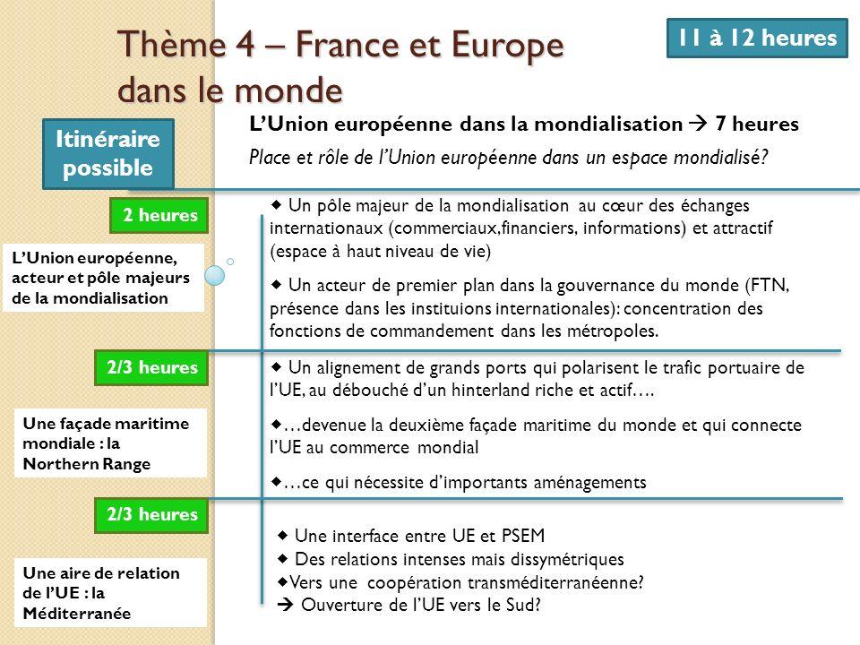 Thème 4 – France et Europe dans le monde