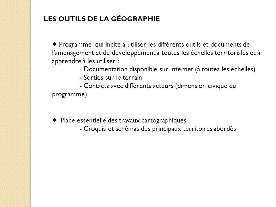 LES OUTILS DE LA GÉOGRAPHIE