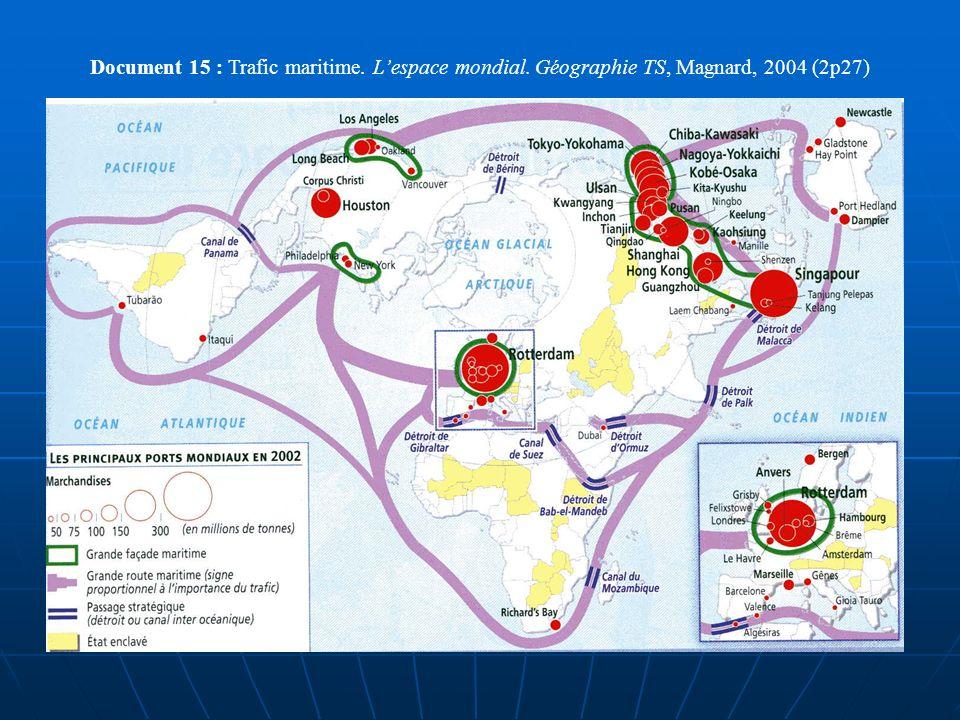 Document 15 : Trafic maritime. L'espace mondial