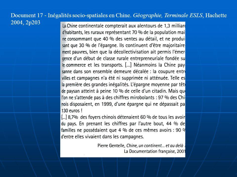 Document 17 - Inégalités socio-spatiales en Chine