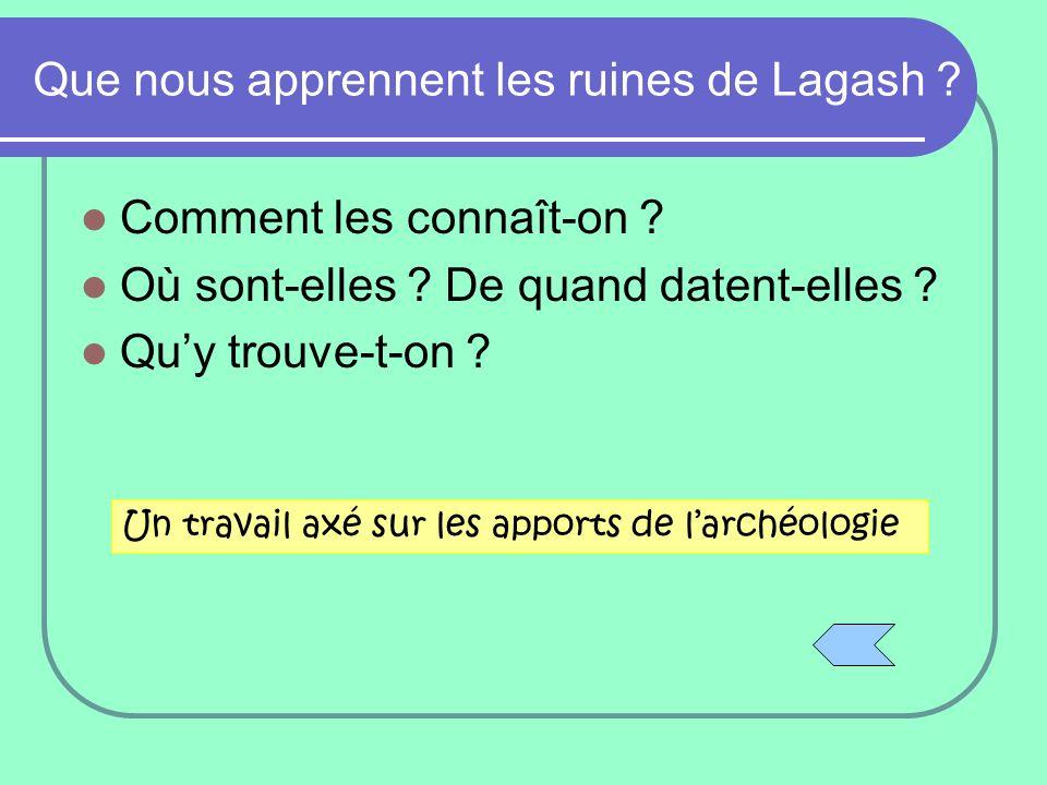 Que nous apprennent les ruines de Lagash