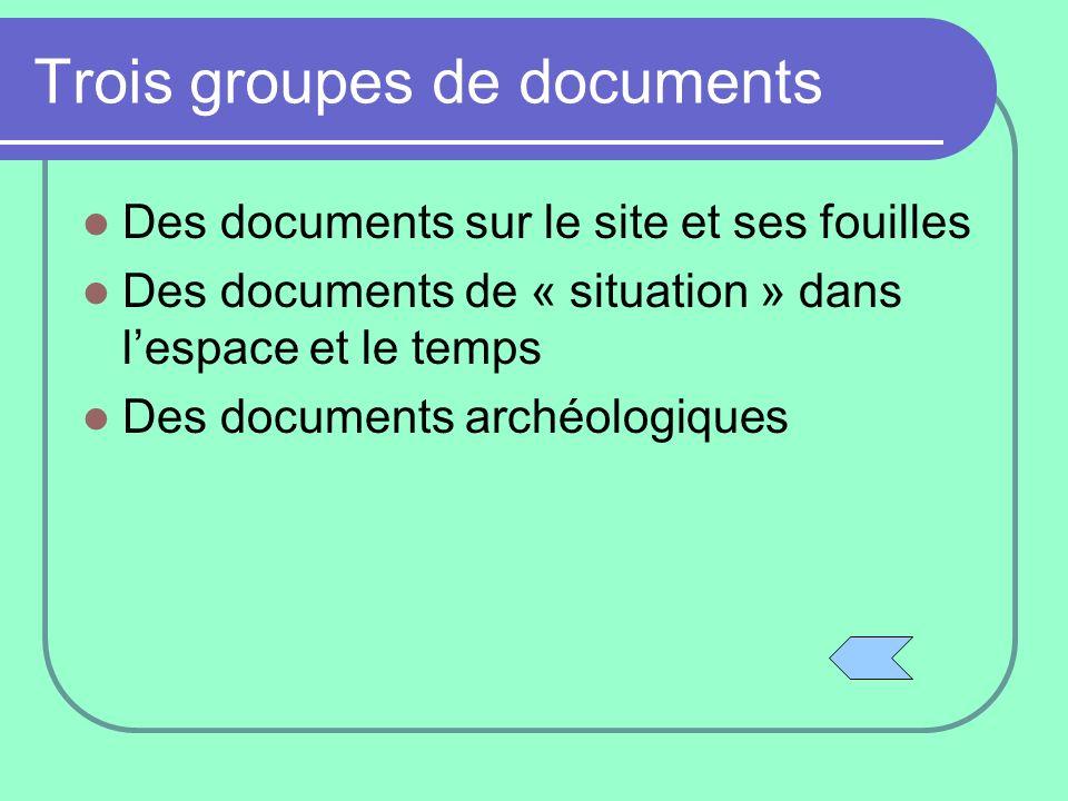 Trois groupes de documents