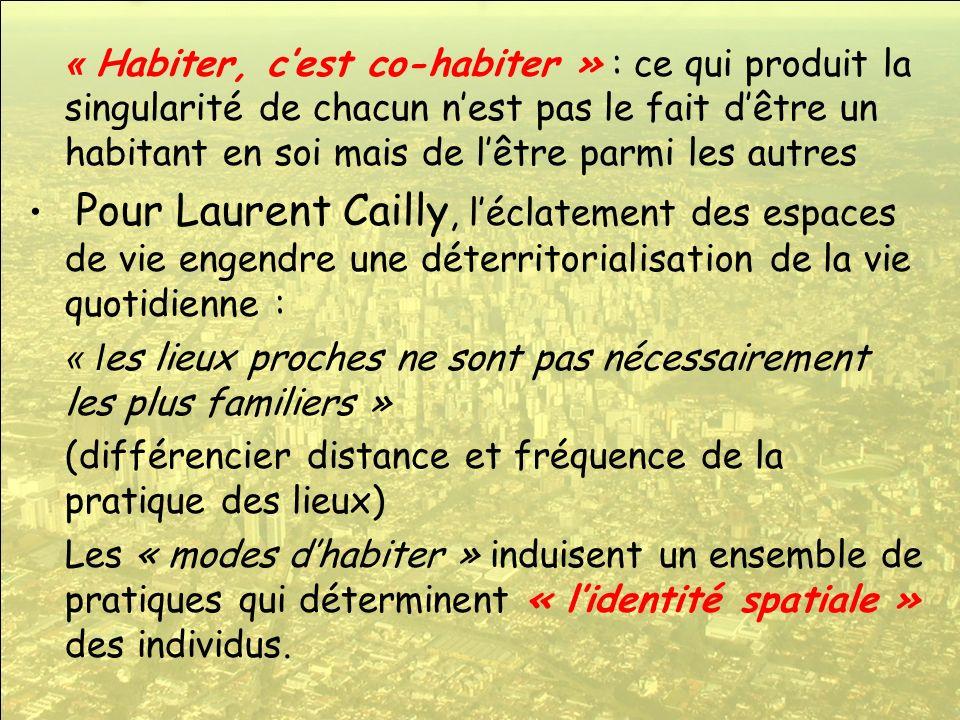 « Habiter, c'est co-habiter » : ce qui produit la singularité de chacun n'est pas le fait d'être un habitant en soi mais de l'être parmi les autres