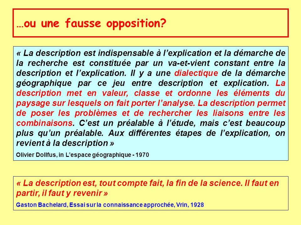…ou une fausse opposition