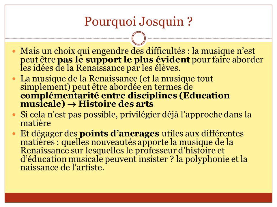 Pourquoi Josquin