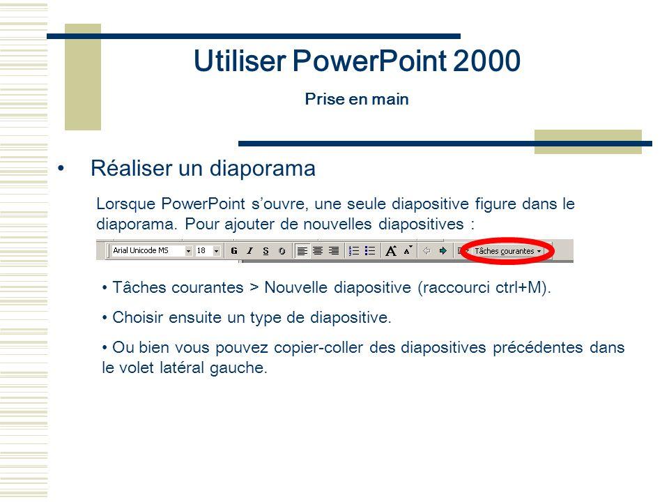 Utiliser PowerPoint 2000 Réaliser un diaporama Prise en main