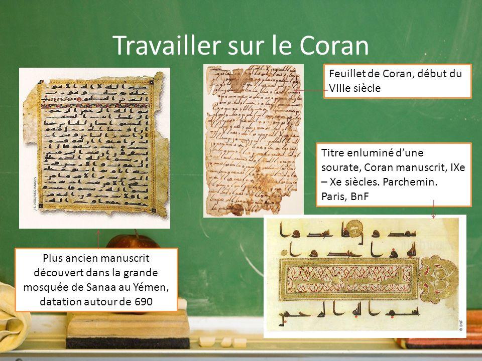 Travailler sur le Coran