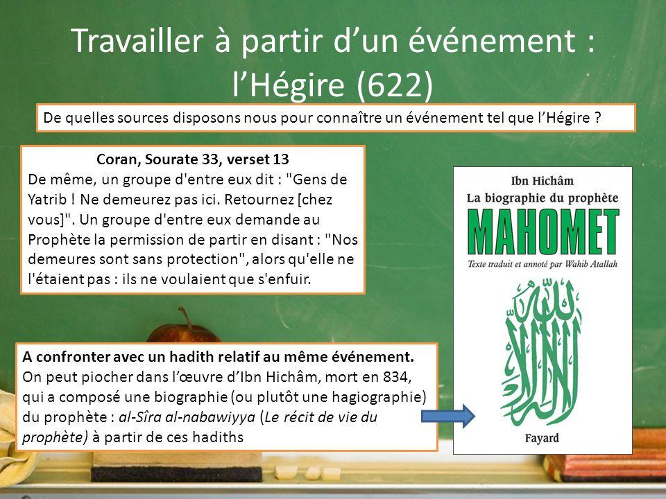 Travailler à partir d'un événement : l'Hégire (622)