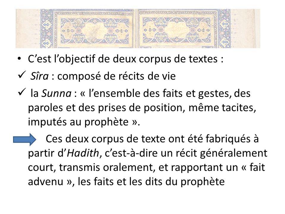 C'est l'objectif de deux corpus de textes :