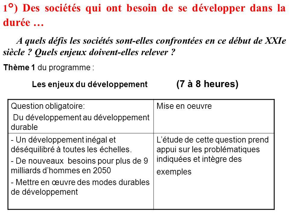 1°) Des sociétés qui ont besoin de se développer dans la durée …