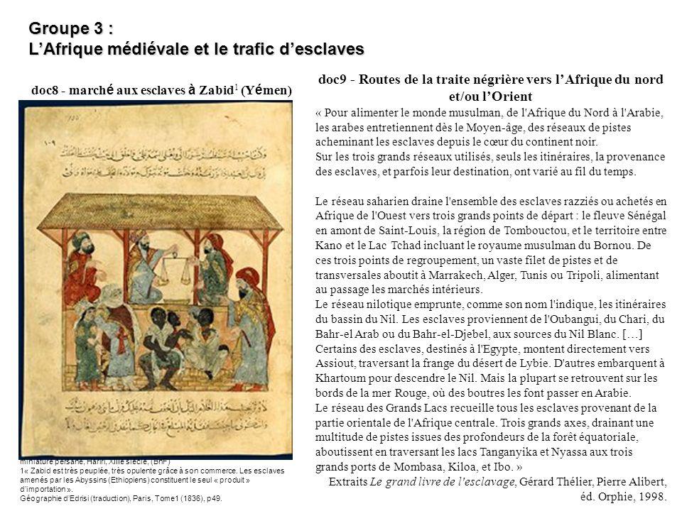 L'Afrique médiévale et le trafic d'esclaves
