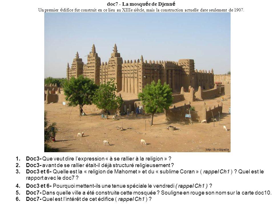 doc7 - La mosquée de Djenné