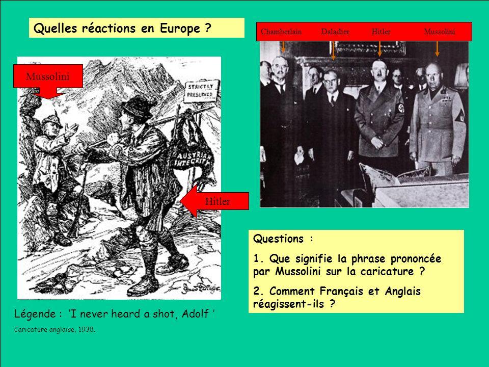 Quelles réactions en Europe