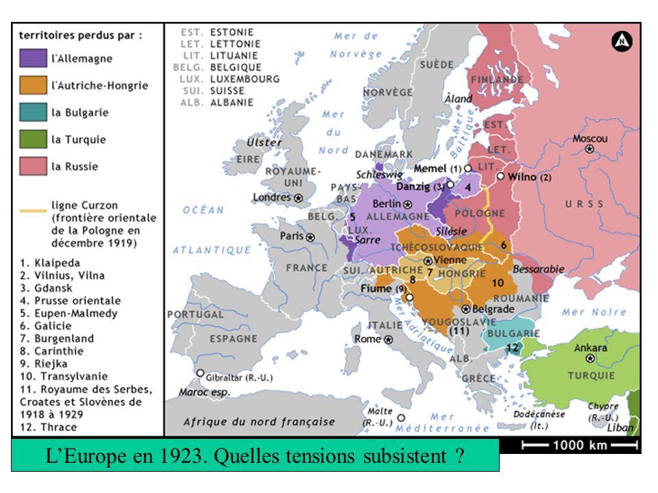 L'Europe en 1923. Quelles tensions subsistent