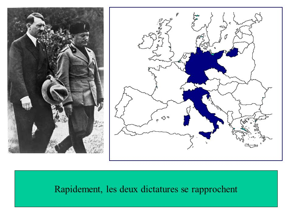 Rapidement, les deux dictatures se rapprochent