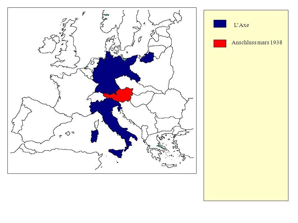 L'Axe Anschluss mars 1938