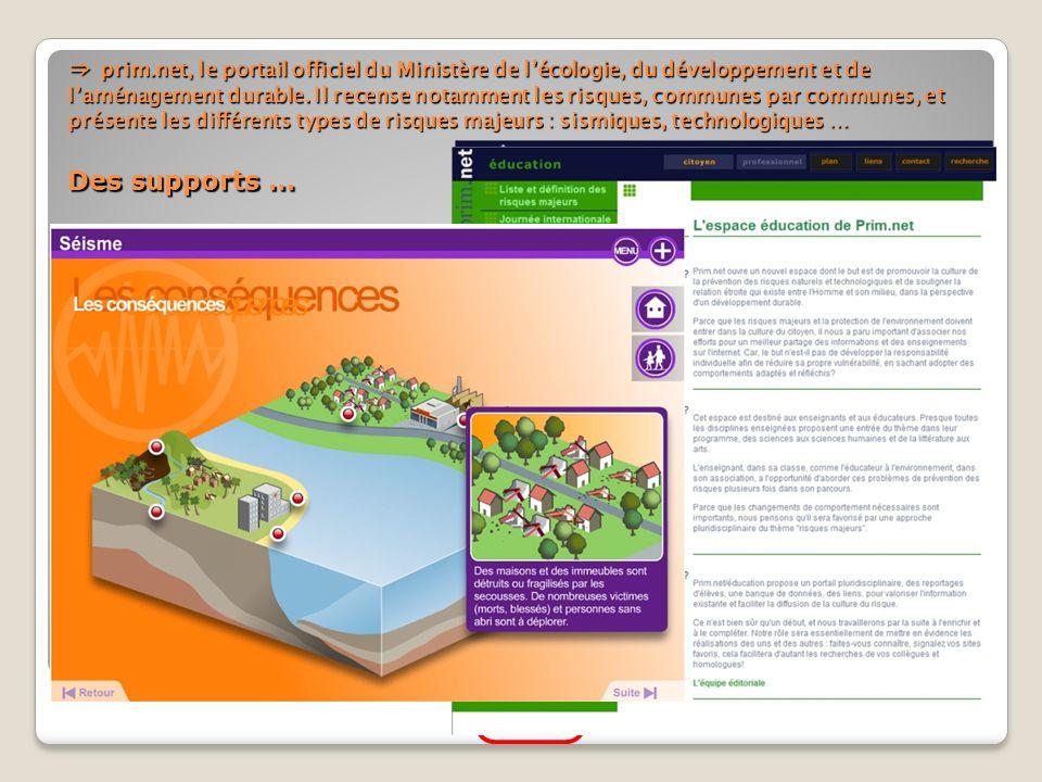 ⇒ prim.net, le portail officiel du Ministère de l'écologie, du développement et de l'aménagement durable.