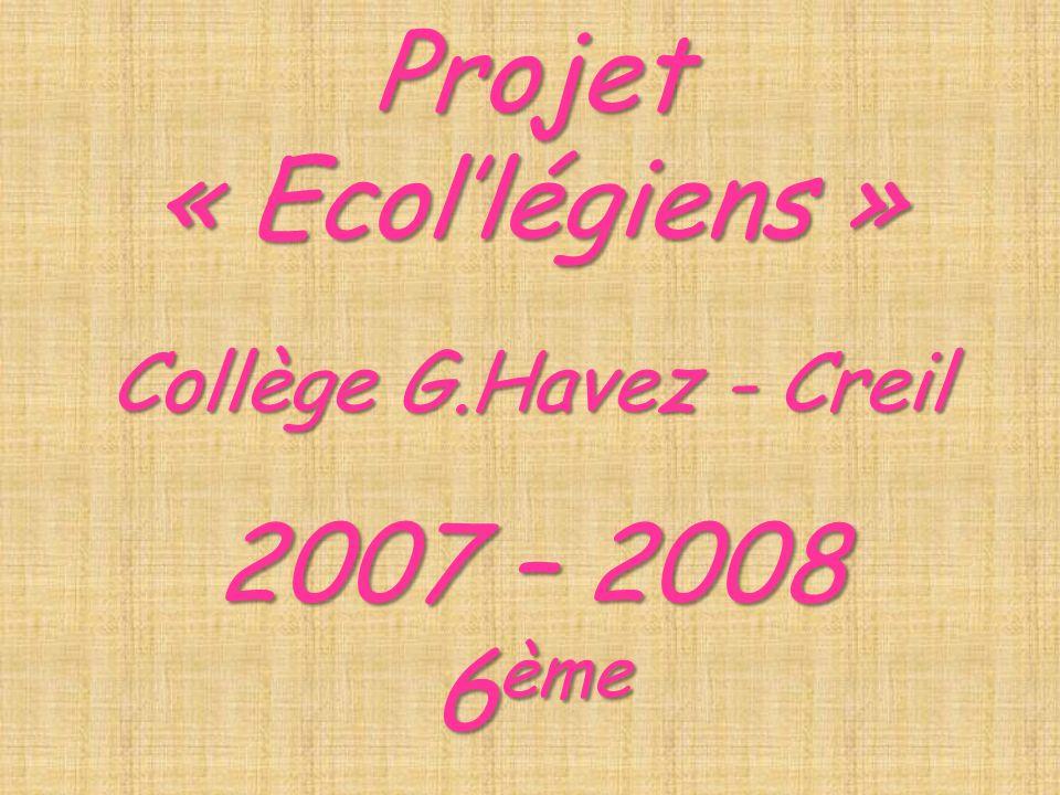 Projet « Ecol'légiens »
