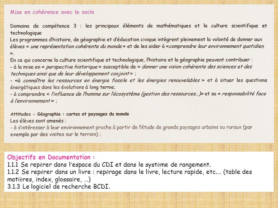 Objectifs en Documentation :
