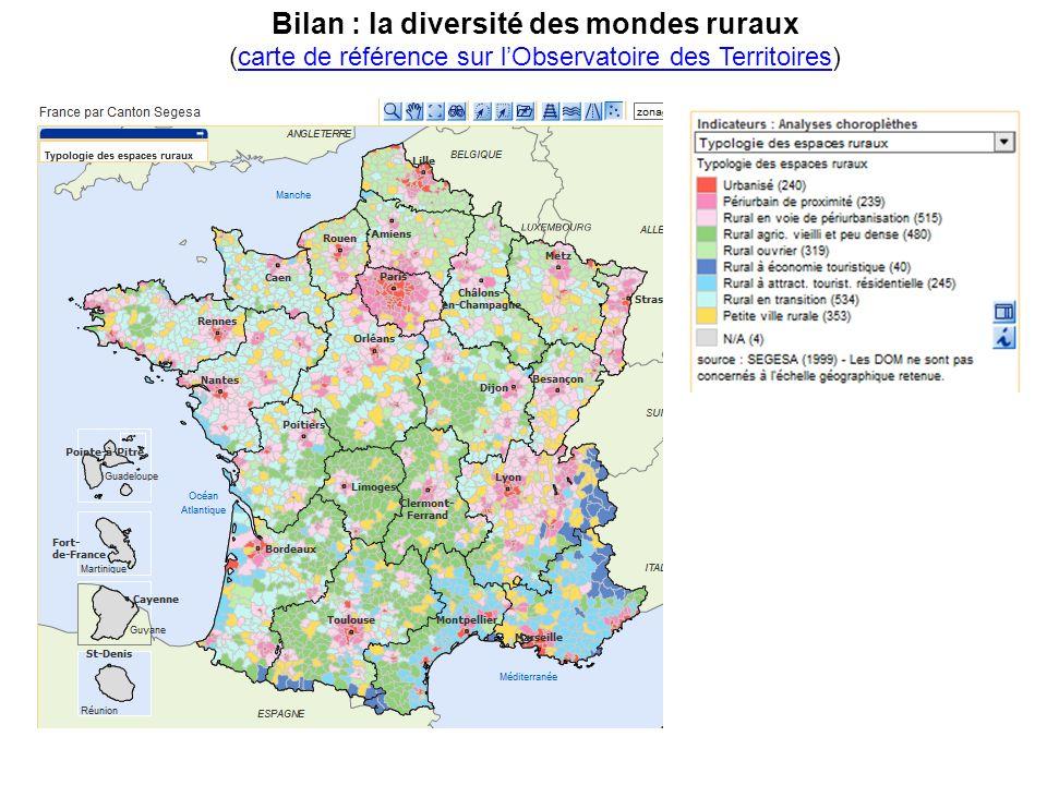 Bilan : la diversité des mondes ruraux