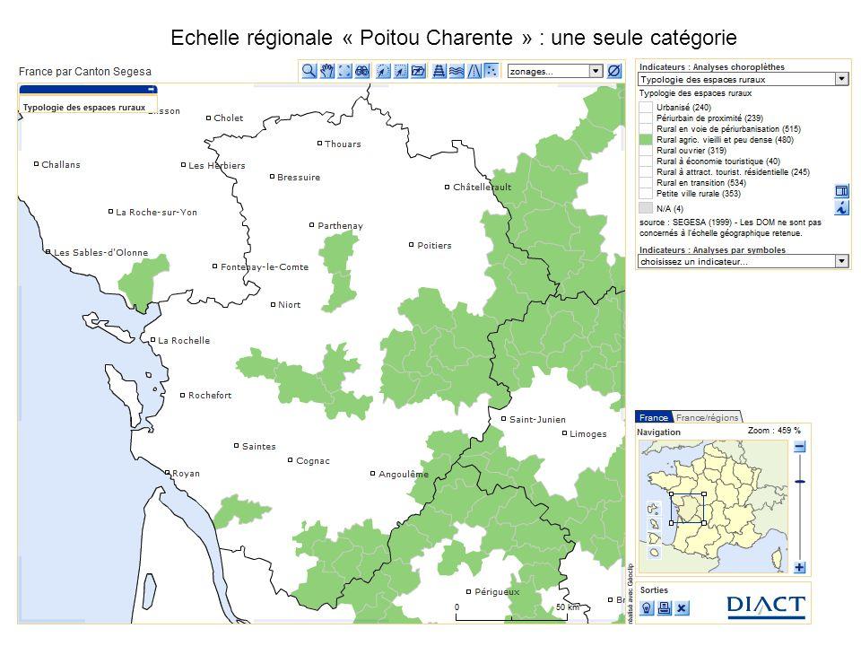 Echelle régionale « Poitou Charente » : une seule catégorie