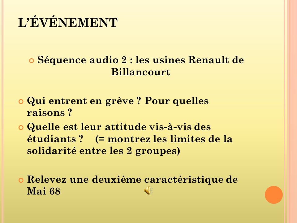 Séquence audio 2 : les usines Renault de Billancourt
