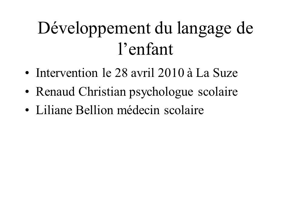 Développement du langage de l'enfant