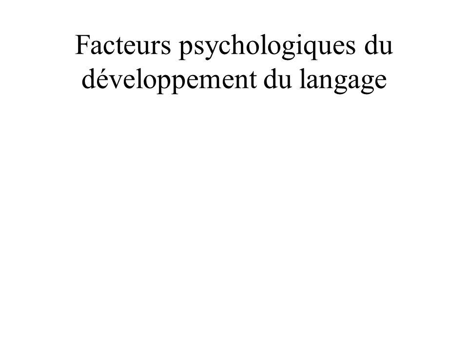 Facteurs psychologiques du développement du langage