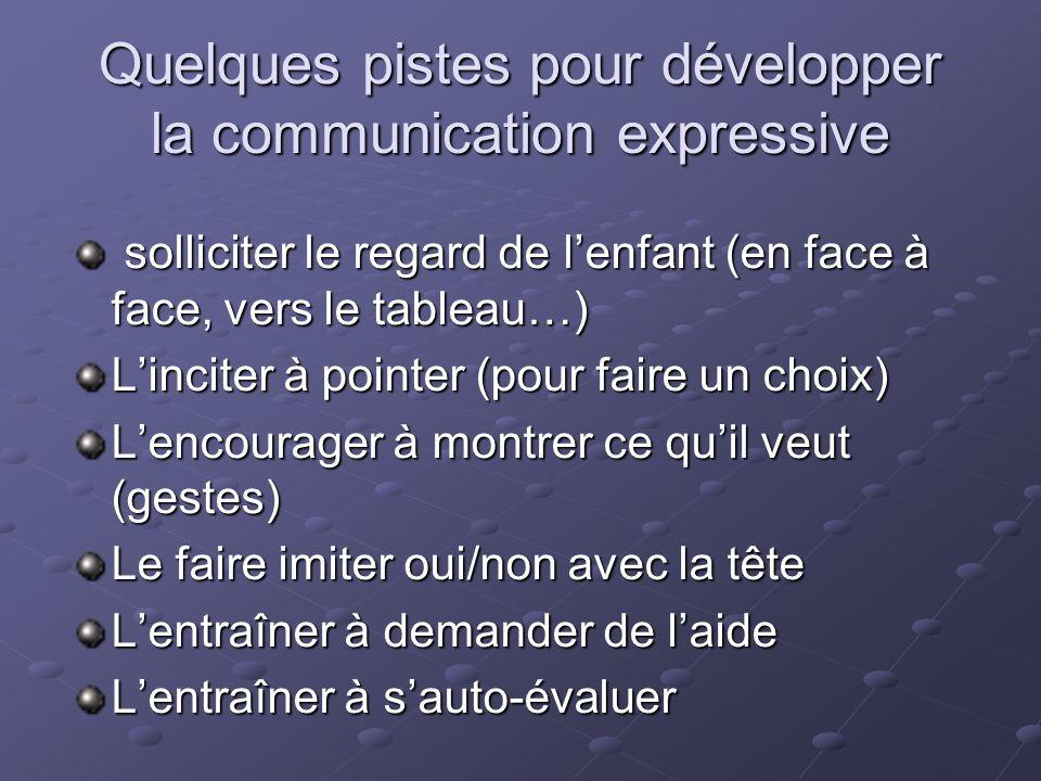 Quelques pistes pour développer la communication expressive