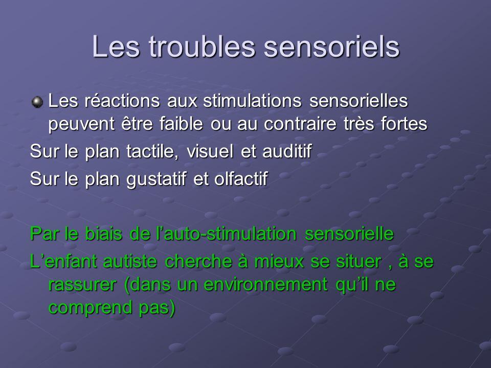Les troubles sensoriels
