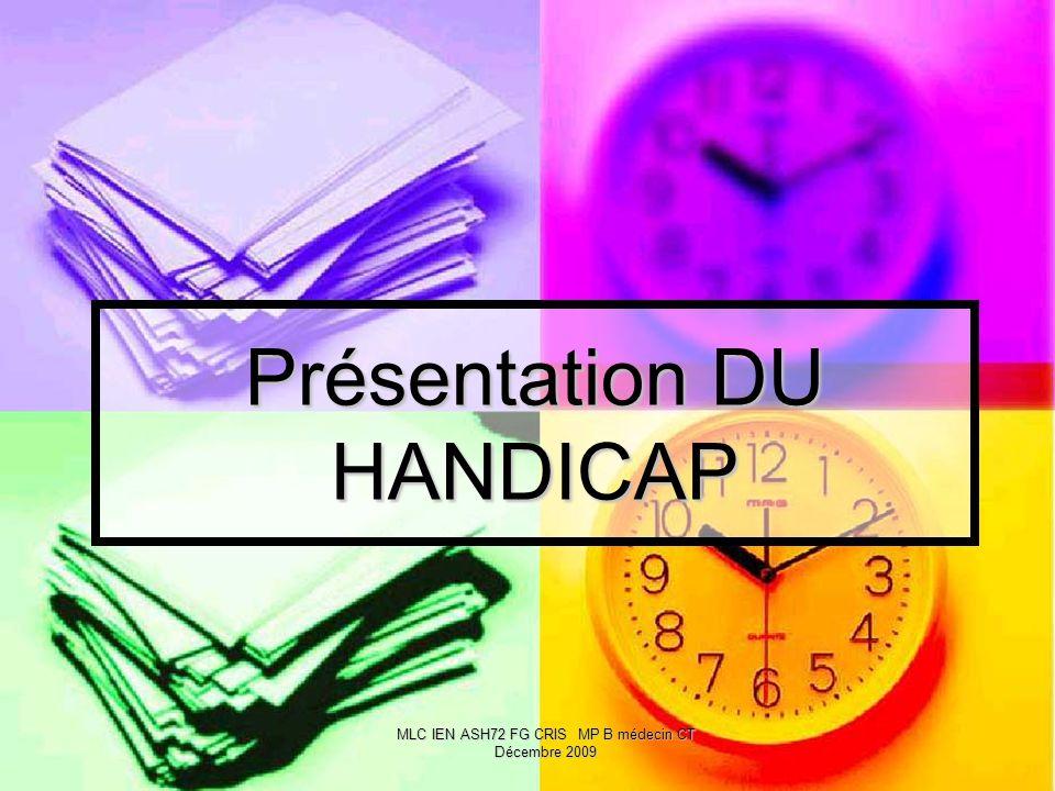 Présentation DU HANDICAP