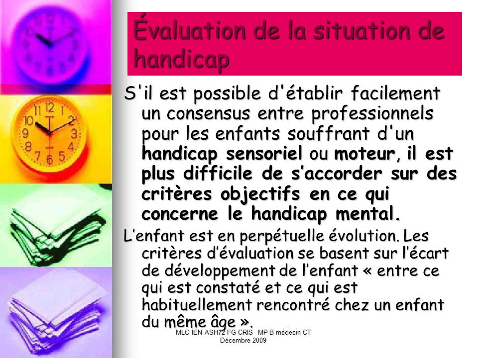 Évaluation de la situation de handicap